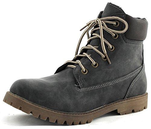 Jane Klain Damen Boots Schnürstiefel grau grey 252 132