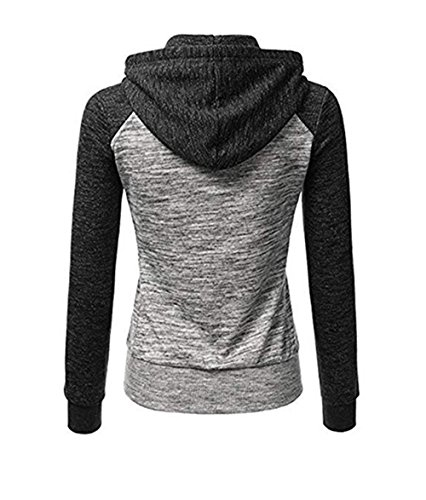 Longues Zipp Sweatshirt Sport Veste Femme Capuche ZIYYOOHY Automne Manches qx8aTnfw