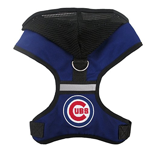 Pets First MLB Chicago Cubs Harness with Hood, Large - Dog Harness Embroidered