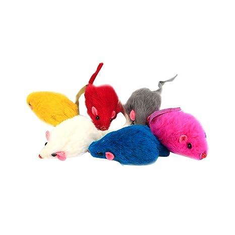 POPETPOP 14Pcs Realstic Mouse Cat Toy Furry Cat Toys Juguetes para Gatos Gatito Accesorios para Mascotas