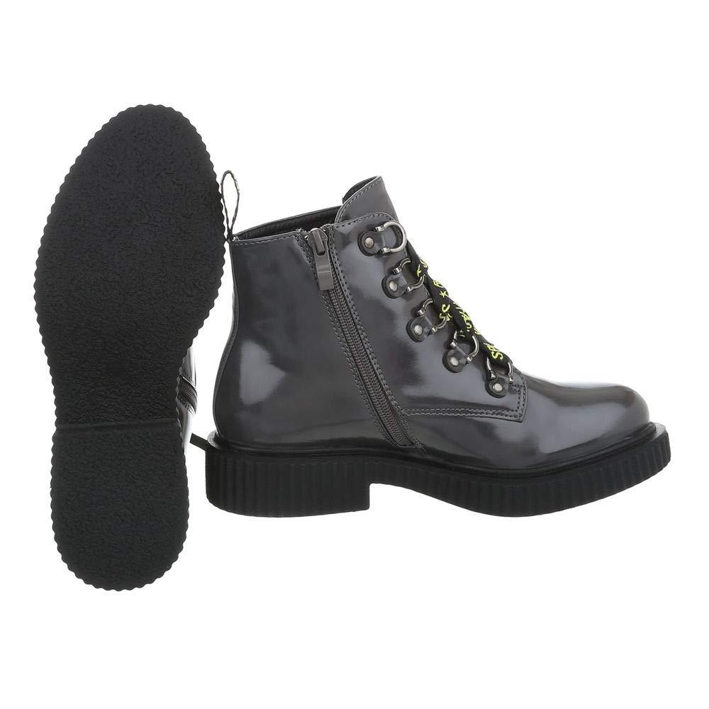Damen Worker Worker Worker Stiefel Stiefeletten Kurzschaft Stiefel Fashion Lack Springerstiefel 36-41 2a26c0