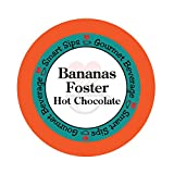 Bananas Foster Hot Chocolate, 24 Count Hot Cocoa Cups for Keurig Kcup Machines