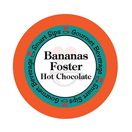 (Bananas Foster Hot Chocolate, 24 Count Hot Cocoa Cups for Keurig Kcup Machines)
