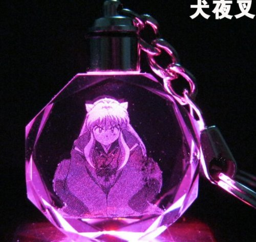 Inuyasha Led light key chain keyring 7 colors shaft #B