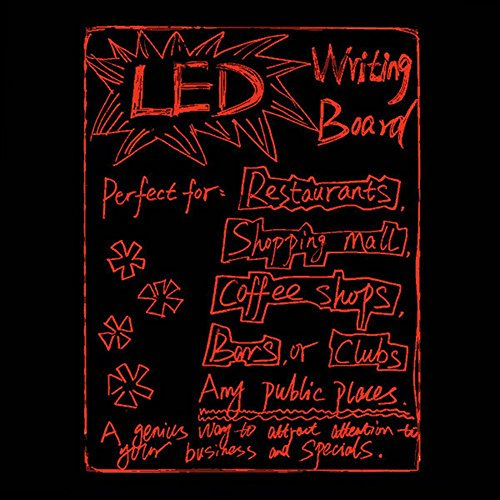 28''x 20'' Flashing Illuminated Erasable Neon LED Writing Board Menu Sign with Control Button (A Complete Set-8 8mm Fluorescent Marker Pens Included)(7 Colors and Flashing Mode) by Autolizer by Autolizer (Image #4)
