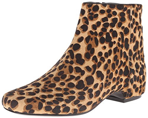 Nine West Women's Huggins Pony Synthetic, Natural/Black, 5 M US (Boots Ankle Cheetah Print)