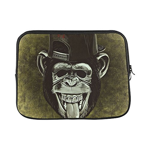 Design Custom Monkey Chimpanzee Funny Cheeky Cap Animal Wild Sleeve Soft Laptop Case Bag Pouch Skin For Macbook Air 11
