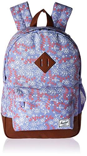 Herschel Supply Co. Heritage Backpack, cuero sintético marrón tostado (Meadow/Tan Synthetic Leather), Una talla