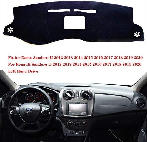 Black Trim Ultra Durable Full Width Heel Pad Car Mats to fit Sandero II 2012+ 1519 Black Heel Pad Anthracite Carpet