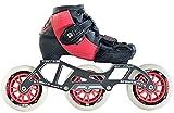 Luigino Kids Adjustable Pink Boot Size 2-5, Luigino Striker 4x90/3x110 Frame, Atom Matrix Pink 100mm Wheels, Bionic Abec 7 Bearings, Inline Speed Skates