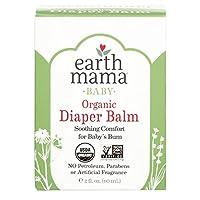 Bálsamo para pañales orgánico de Earth Mama | Crema de caléndula segura para calmar y proteger la piel sensible, Proyecto sin OMG verificado, onza de 2 fluidos