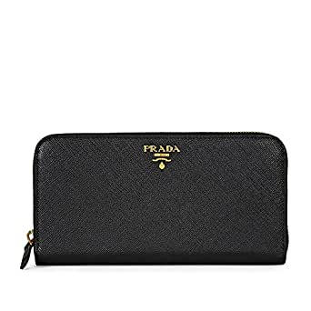 5a1971ff6fc4ab Image Unavailable. Image not available for. Color: Prada Women's Saffiano  Leather Black