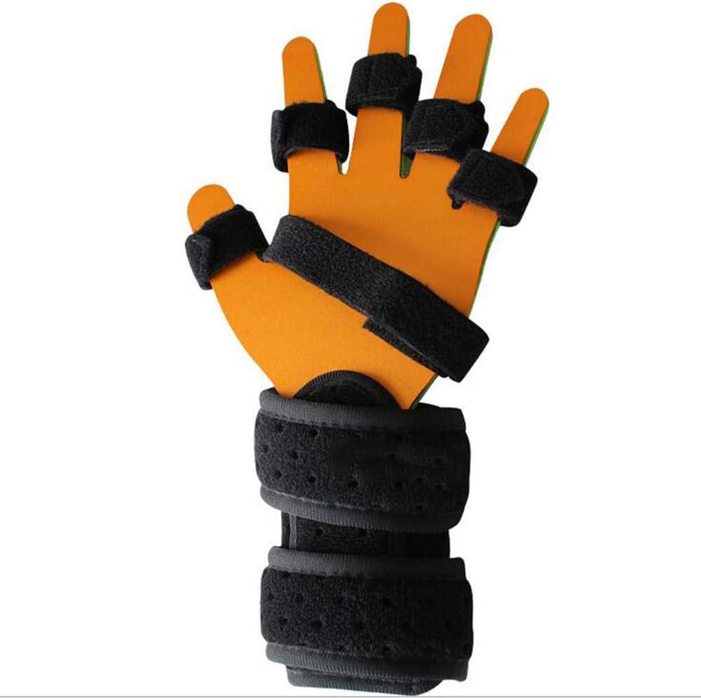 SHOWGG Diapasón Punto de Entrenamiento Dedo Placa Fija ortesis de Dedo deformación pandeo plástico Placa de Aluminio para hemiplejia,Yellow,L