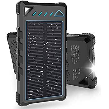 Amazon Com Solar Charger 5000mah Portable Solar Power
