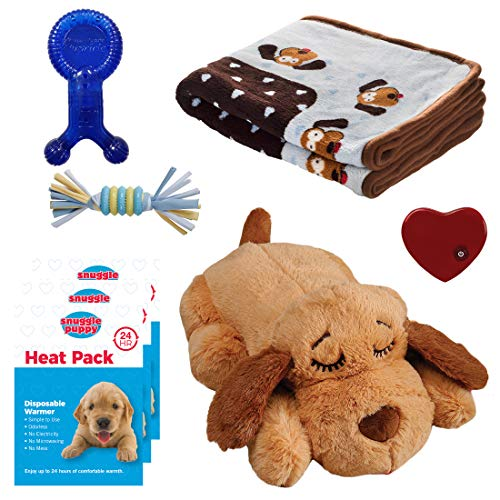 Snuggle Puppy - New Puppy Starter Kit (Blue) (Best Toys For New Puppies)