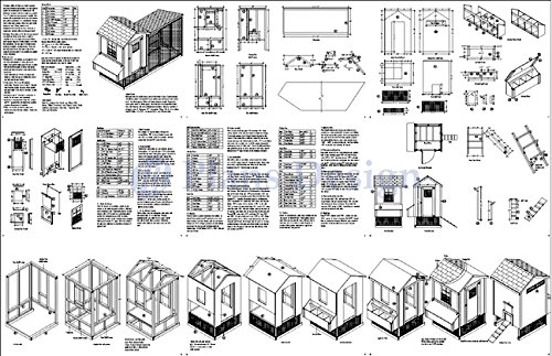 How to Build a Gable Chicken Coop with Lean-to Kennel Combo Project Plans, Design 50410GL