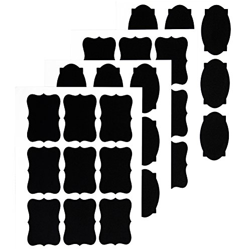 Beautyhero Chalkboard Labels, Reusable Blackboard Stickers for the Labeling Jars, Parties, Craft Rooms, Weddings, Wine Glasses and home kitchen organize,36PCS