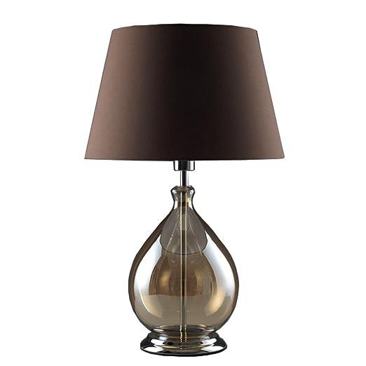 HUACANG Lámpara de Mesa de Vidrio Gris clásico Americano ...