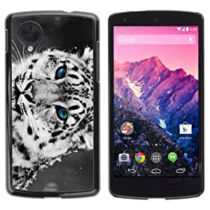 YOYOSHOP [Cool Snow Leopard] LG Google Nexus 5 Case