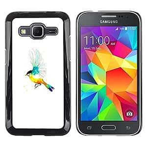 LECELL--Funda protectora / Cubierta / Piel For Samsung Galaxy Core Prime -- Pájaro del arco iris --