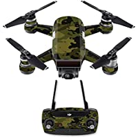 Skin for DJI Spark Mini Drone Combo - Green Camouflage| MightySkins Protective, Durable, and Unique Vinyl Decal wrap cover | Easy To Apply, Remove, and Change Styles | Made in the USA