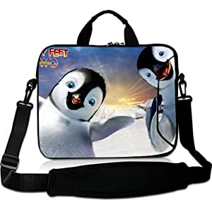 Brinchs Handmadecraft Cute Cartoon 13 13.3 Inch Laptop Shoulder Bag with Happy Feet Two(3) Waterproof Canvas Fabric Laptop / Notebook / MacBook / Ultrabook Computers(Twin Sides)