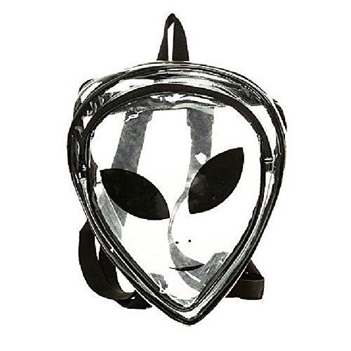 Peiji Alien Kids Backpack PVC Hologram Clear Bag Purse Sh...