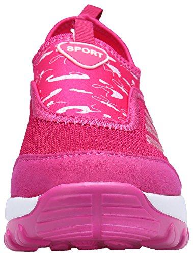 Nero Grigio Fitness Casual Rosa Leggero Sneakers Sportive Da Corsa Ginnastica Dengbosn Scarpe Donna qU7vvw