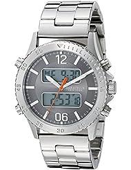 Caravelle New York Mens 43B141 Analog-Digital Display Analog Quartz White Watch