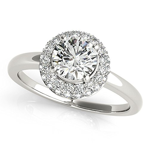 GIA Certified Plain Shank Double Halo Unique Diamond Engagement Ring 1 1/4 Ctw