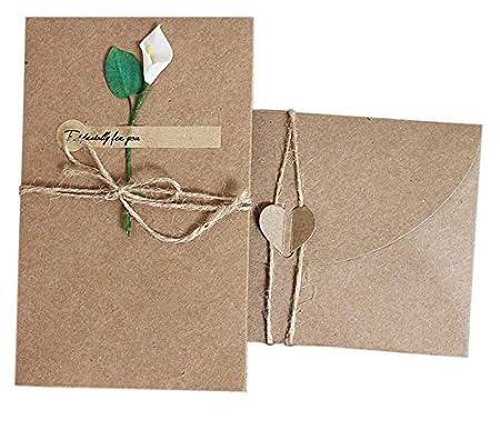 Tarjetas de felicitación, creativo papel kraft vintage ...