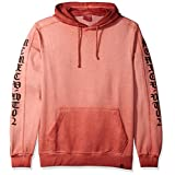 WT02 Men's Washed Fleece Basic Kagaroo Pocket Hoodie, Pink, X-LARGE