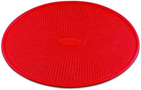 DoughEZ 13-Inch Perforated Silicone Non-Stick Metal Reinforced Rimmed Pizza Pan   Oven Safe Up to 480° F   Dishwasher Safe   BPA Free, FDA Approved Materials