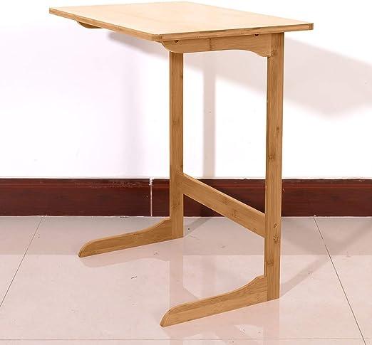 Mesa de bambú para Aperitivos, para sofá, Cama, Mesa Auxiliar ...