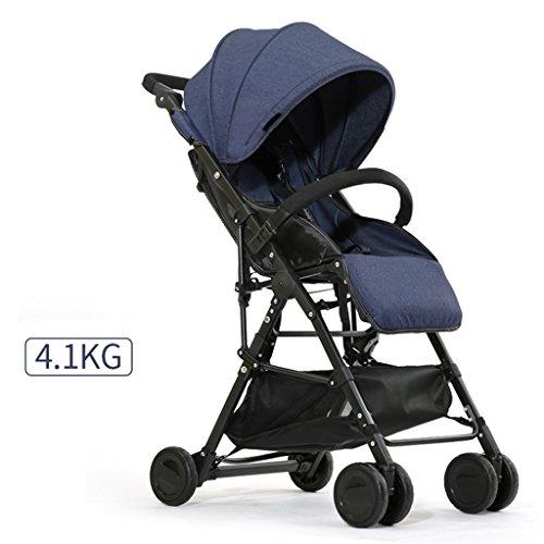 QWM-Las bicicletas infantiles para bebés Carrito de bebé Ultra-ligero Portátil y plegable, puede sentarse y mentir Bicicleta de niño, cochecito de bebé de ...