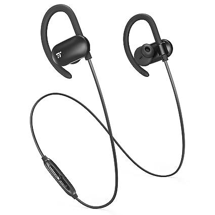 Auriculares Bluetooth 4.1 TaoTronics 12 Horas de reproducción, Auriculares Inalámbricos para Correr, Deporte (