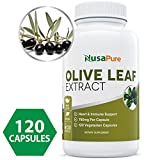 Best Olive Leaf Extract (NON-GMO) 750 mg - 20% Oleuropein - Vegetarian - Super Strength - Immune Support, Cardiovascular Health & Antioxidant Supplement - No Oil - 120 Capsules