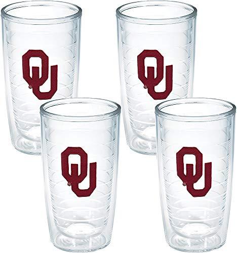 - Tervis Oklahoma University Emblem Tumbler (Set of 4), 16 oz, Clear