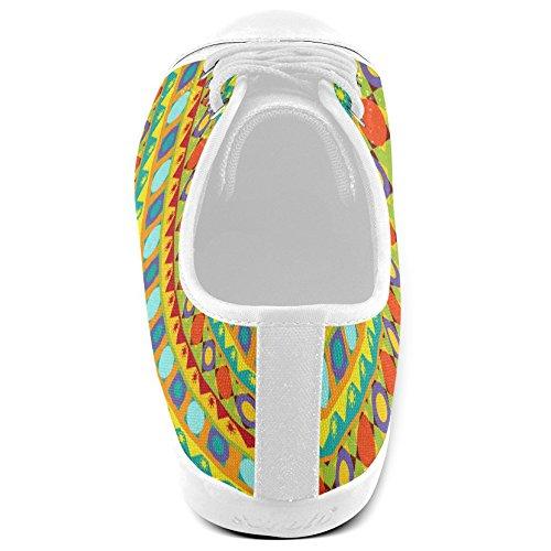 Artsadd Bleu Treillis Toile Chaussures Pour Femmes (model017)