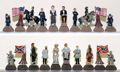 CHH Games Civil War Themed Metal Chess Piece Set