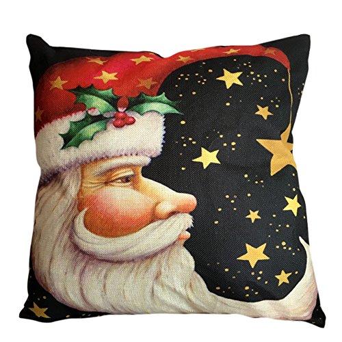 Christmas Series Printing Throw Pillowcase,Fall Holiday Season Decorations 18x18 Square Sofa Cushion Cover (Couch Macys Covers)
