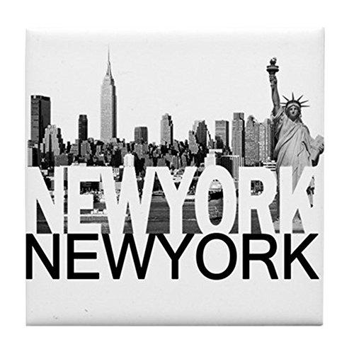 CafePress - New York Skyline - Tile Coaster, Drink Coaster, Small Trivet