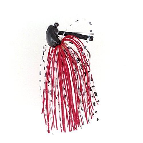 Attirail de pêche Barbe caoutchouc Blanc Rouge Lure Bait Fish Hook w