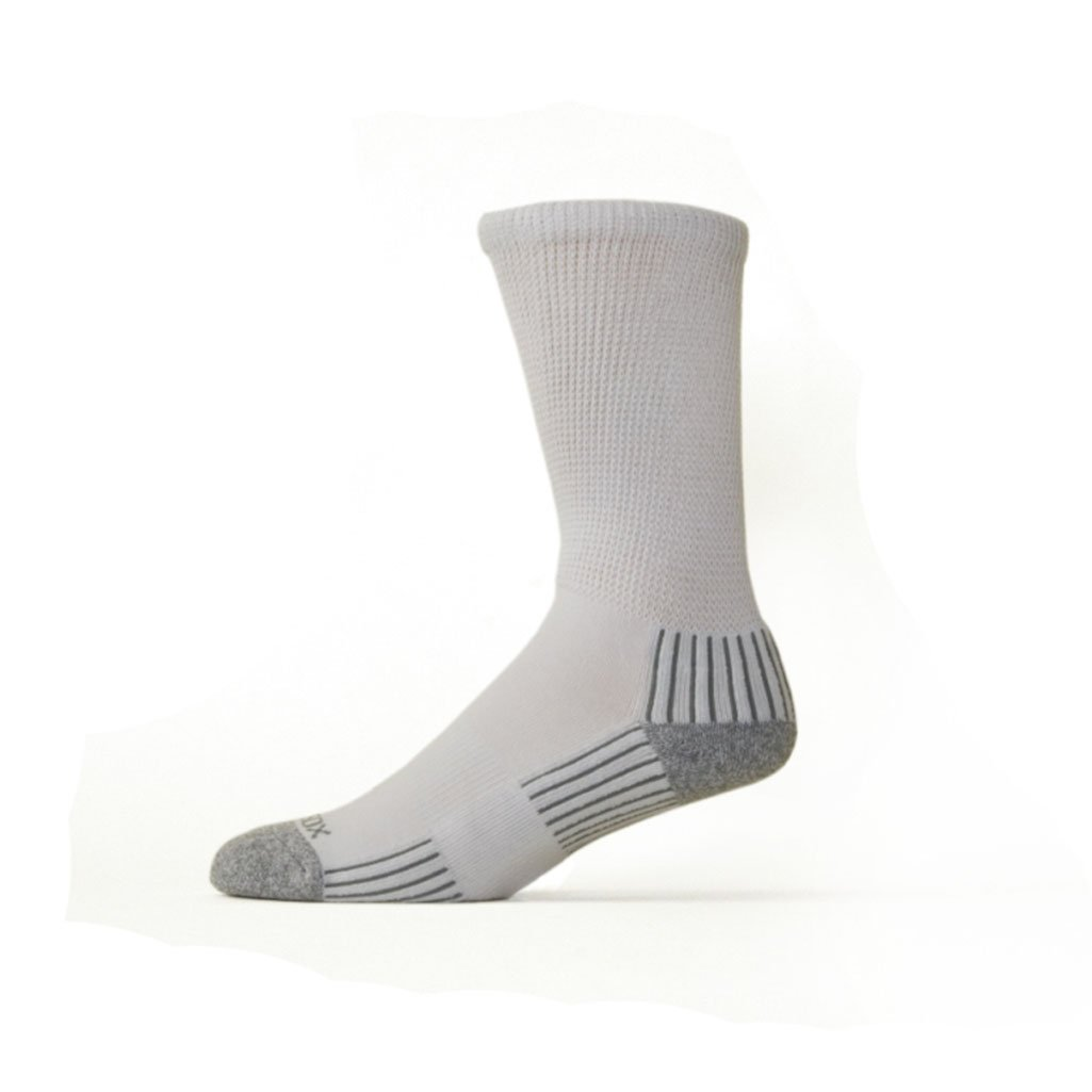 Diabetic Socks - 3 Pair - Viscose from Bamboo - Crew w/Arch Support - Size 9-11 - Whit...