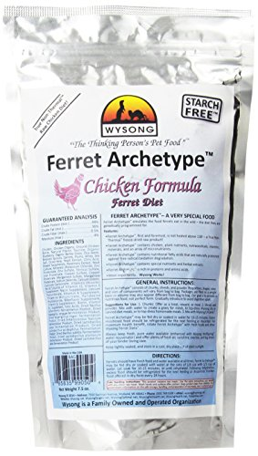 Wysong Ferret Archetype Chicken Formula - Raw Ferret Food - 7.5 Ounce Bag