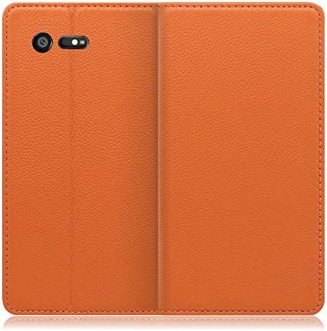 LOOF Pastel Xperia X Compact/SO-02J ケース 手帳型 カバー 上質な本革 ベルト無し カード収納 カードポケット 本革 高級 スタンド機能 手帳型ケース スマホケース シンプル (ネイビー)