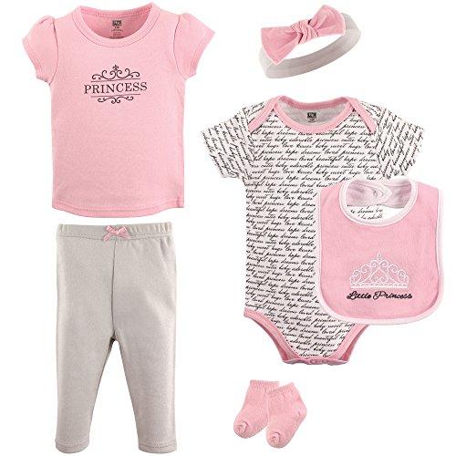 Hudson Baby Baby Layette Set 6 Piece, Princess Pink, 6-9 Months