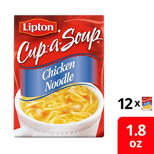 - Lipton Instant Soup Mix, Chicken Noodle with White Meat, 1.8 oz (12 Pack)