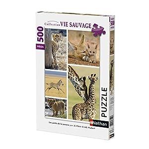 Nathan 87150 Puzzle Bambino Animali Selvatici 500 Pezzi