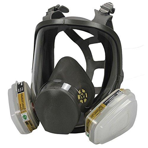 Holulo Full Face Facepiece Respirator Paint Spray Mask with 2 x Organic Vapor (Face Paint Mask)